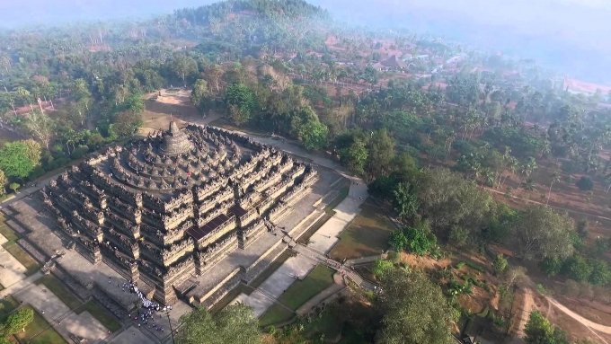 Borobudur Temple Aerial Videography Drone Dji InspireOne - Candi Borobudur