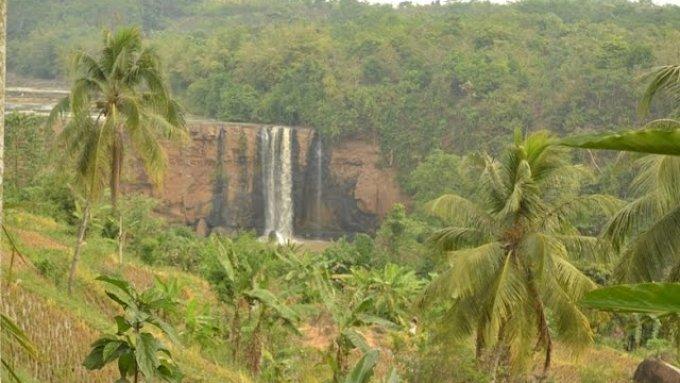 The Amazing Waterfalls of Curug Awang -  Ciletuh Geopark Aerial Video