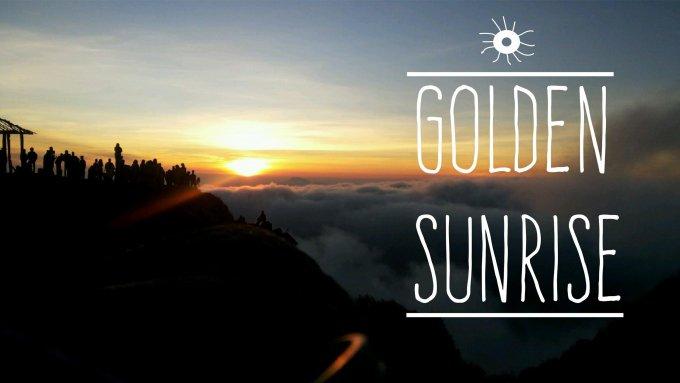 Golden Sunrise - Puncak Sikunir, Dieng