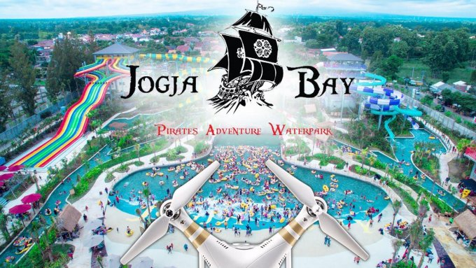 Jogja Bay Pirates Adventure Waterpark, Yogyakarta - Indonesia (Aerial Video)