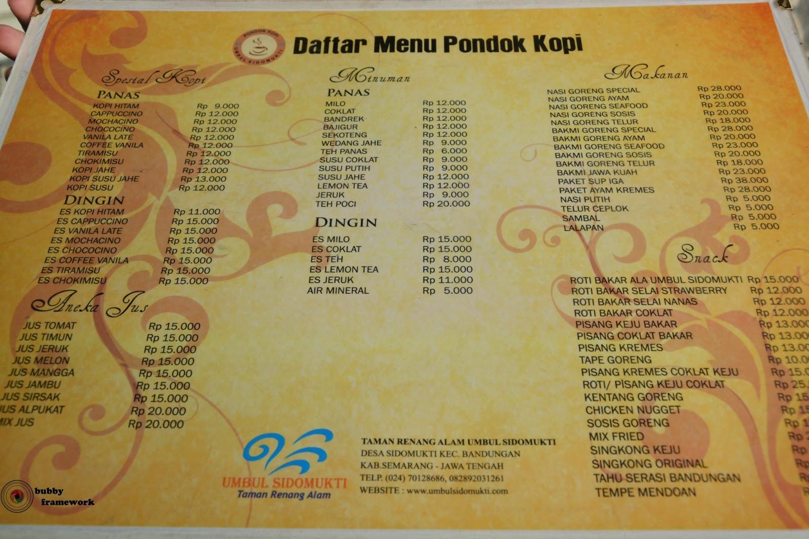 Menu makanan Semarang