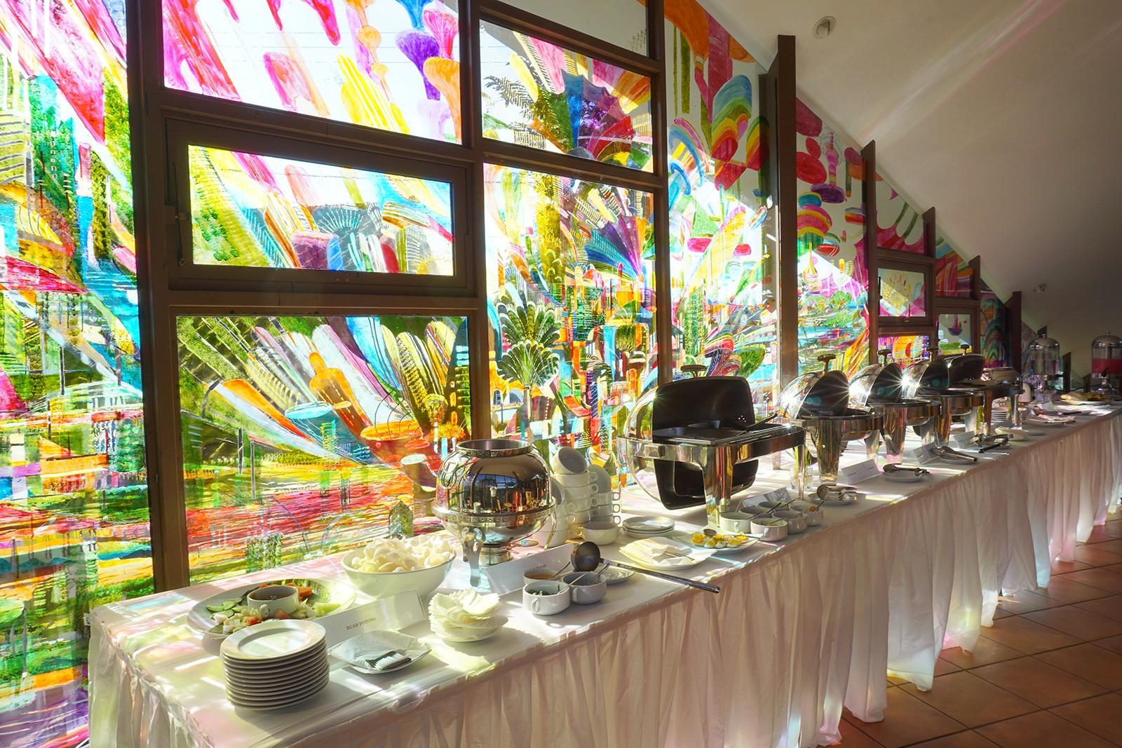 Buffet untuk makan pagi para tamu villa Warung Salse cafe