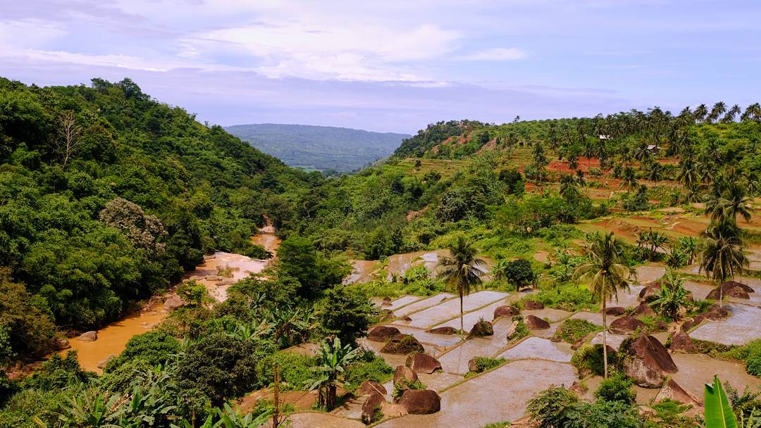 Pemandangan menuju lokasi Sukabumi