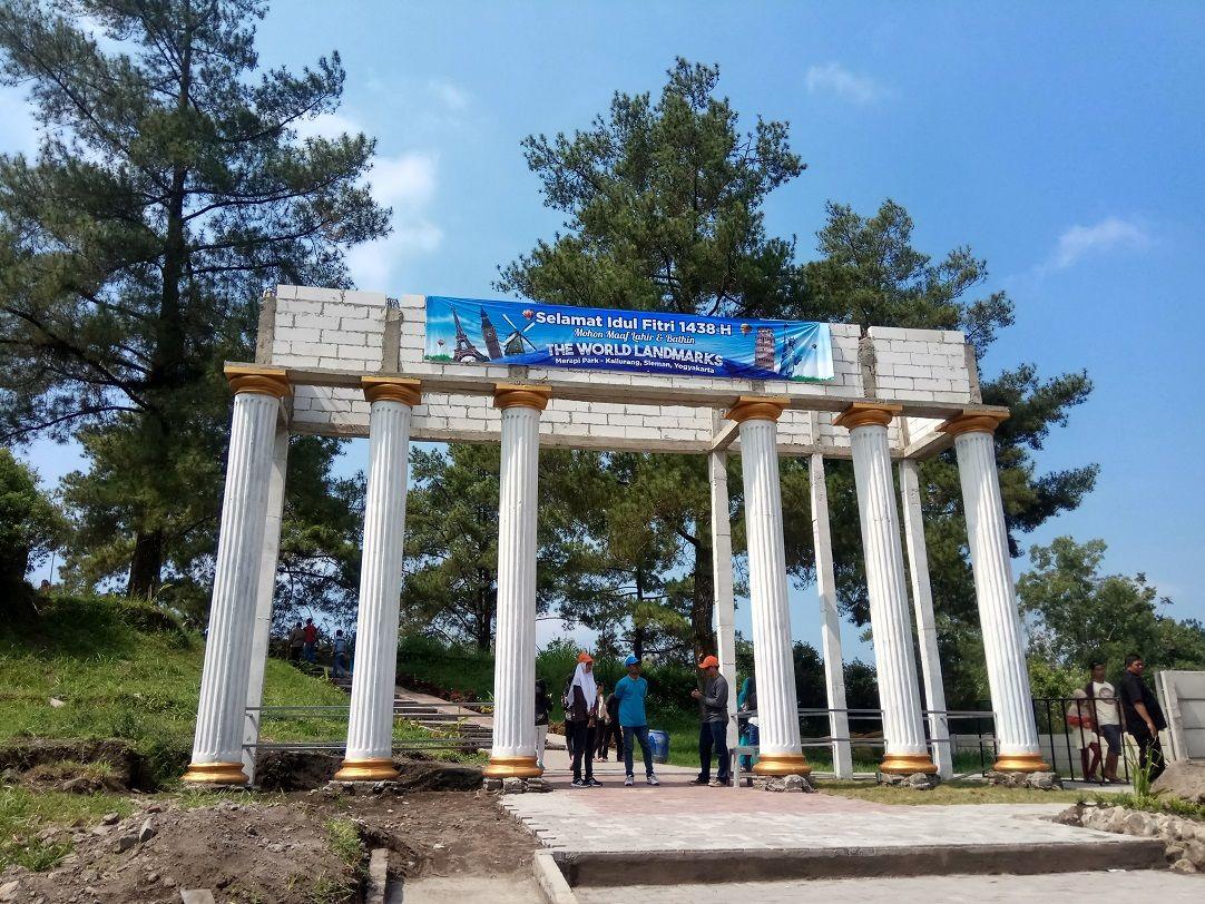 The world landmark in Yogyakarta