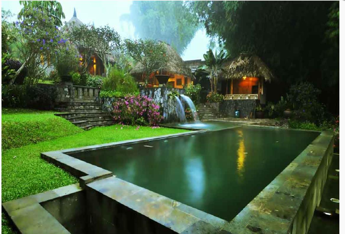 pool Kampung Sampireun Resort & Spa